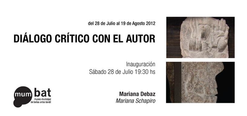 MARIANA DEBAZ EN DIALOGO CRITICO CON EL AUTOR | Mumbat